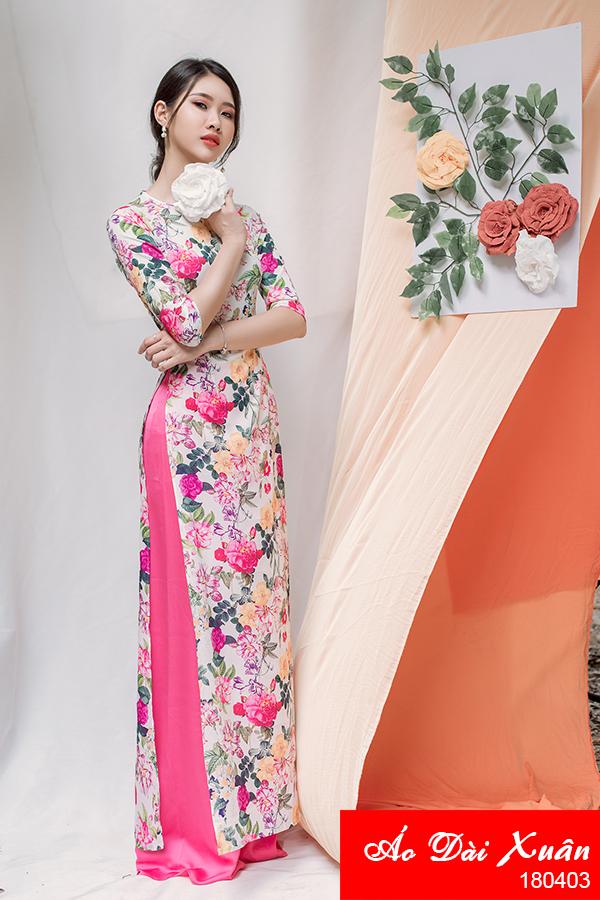 áo dài hoa nhí - 180403