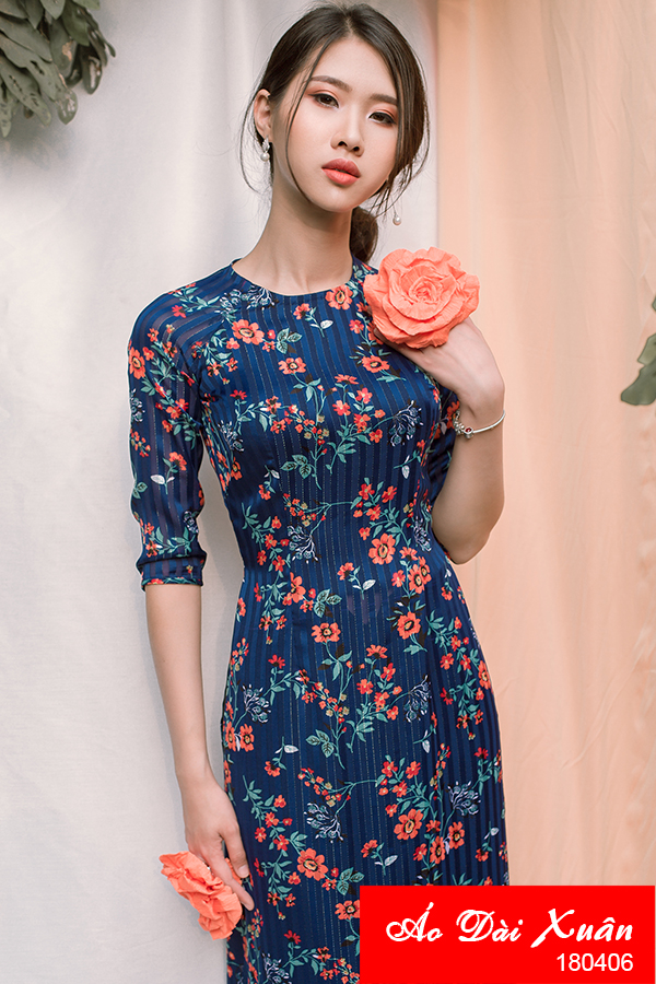 áo dài hoa nhí - 180406