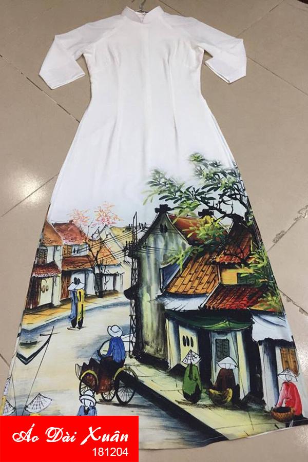 áo dài trắng phố cổ - 181204