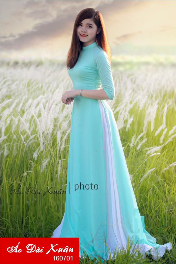 áo dài lụa HQ - 160701