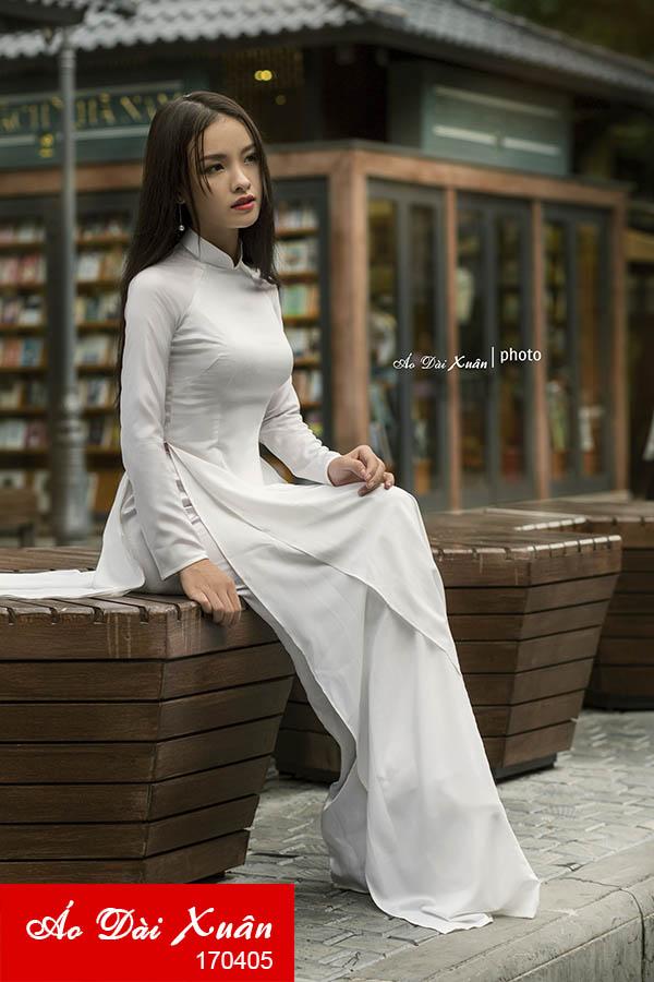 áo dài lụa HQ 2 tà váy-170405