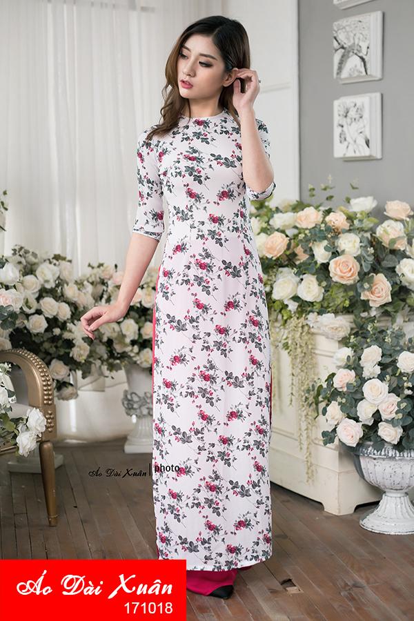 áo dài hoa nhí - 171018