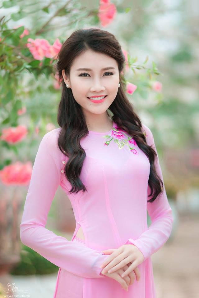 áo dài lụa thêu - 151116